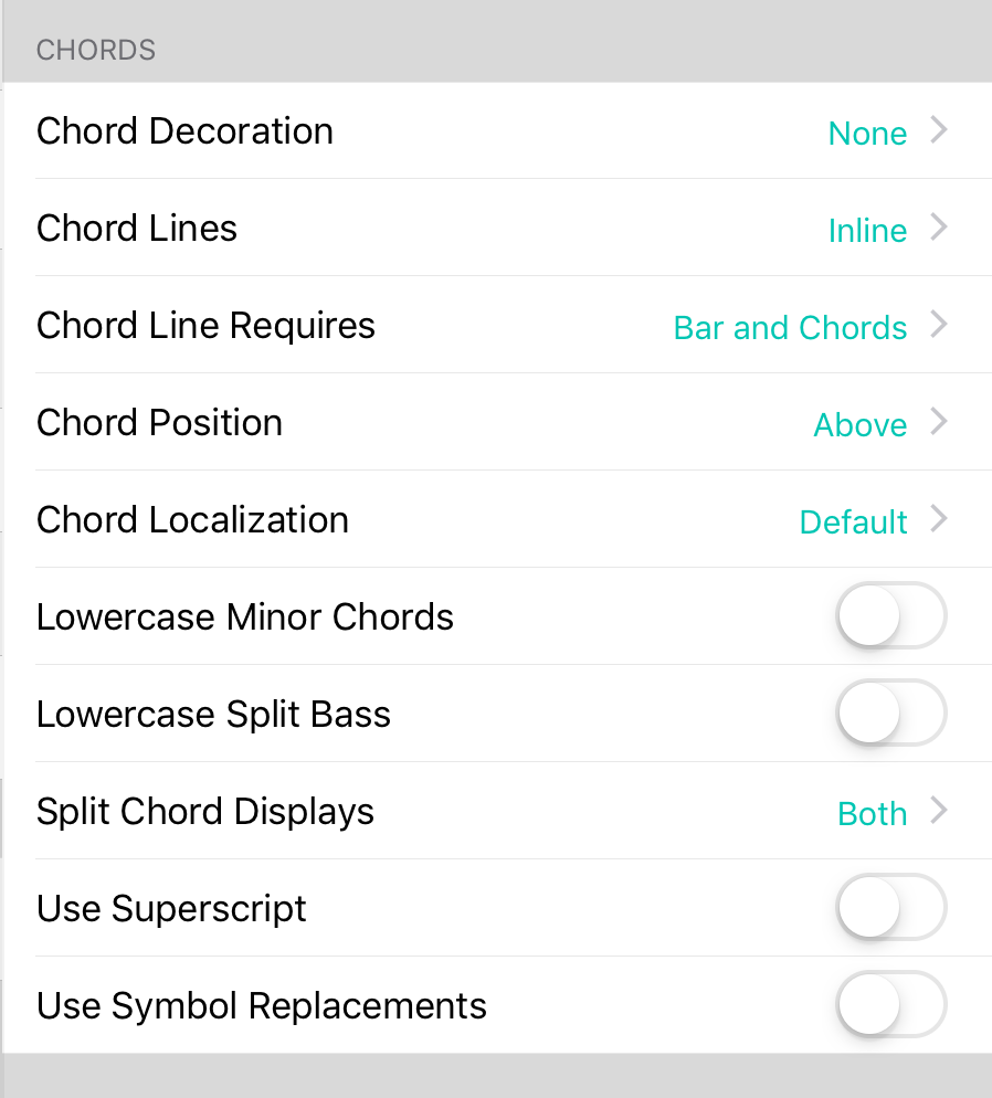 OnSong | Manual | Chords