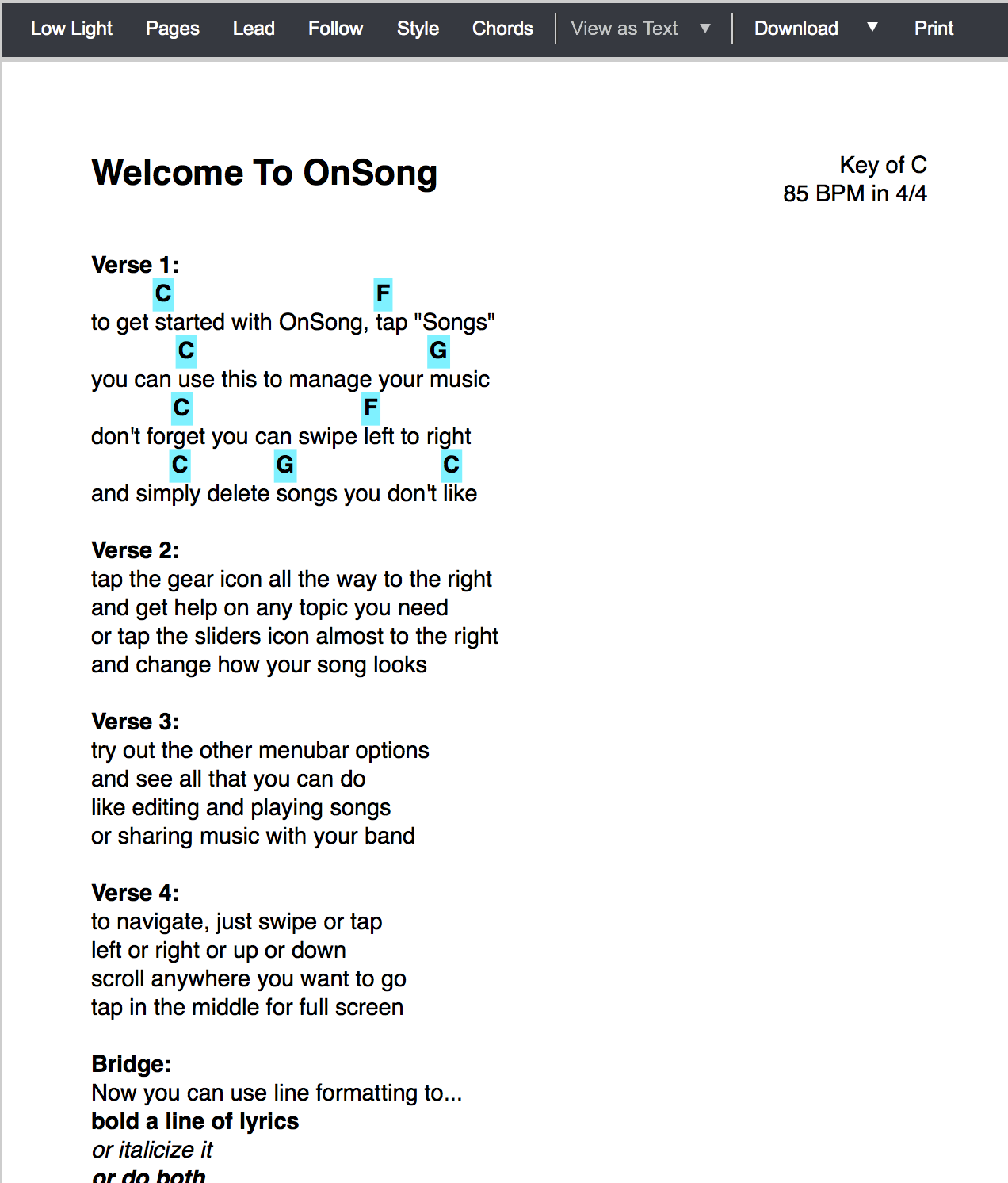 Onsong manual song preview the hexwebz Images