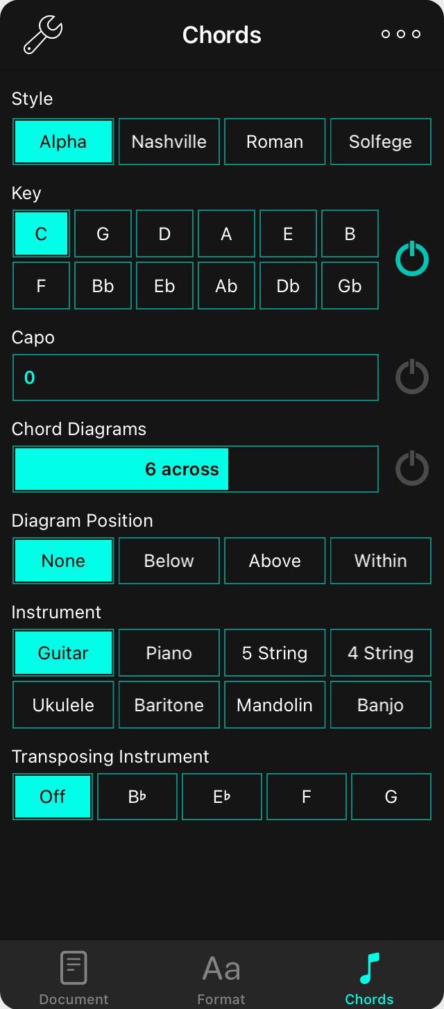 Onsong Manual Chords